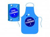 Avental Azul Padrinho