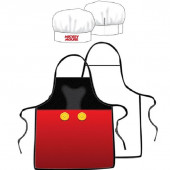 Avental cozinha + Chapéu de Mickey Mouse