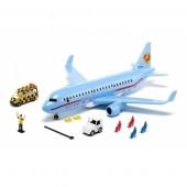 Avião Comercial com Acessórios Siku
