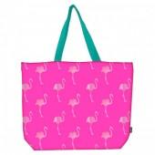 Baggy - Bolsa Praia rosa Flamingos
