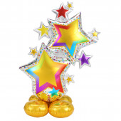 Balão AirLoonz Colorful Star Cluster 149cm