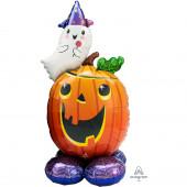 Balão AirLoonz Pumpkin and Ghost 142cm