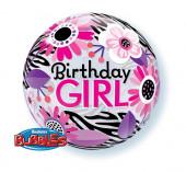 Balão Bubble Birthday Girl