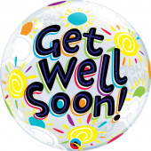 Balão Bubble Get Well Soon