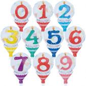 Balão de Mão Número Aniversário