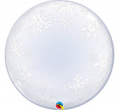 Balão Deco Bubble Flocos de Neve