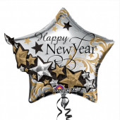 Balão Estrela Happy New Year 3D