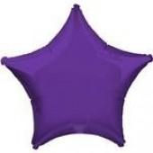 Balão Estrela Metalizado Roxo 45cm