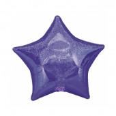 Balão Estrela Roxo c/ Glitter
