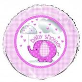 Balão Foil 2 faces Rosa Baby Shower