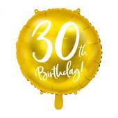 Balão Foil 30th Birthday 45cm