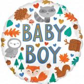 Balão Foil Baby Boy Animais do Bosque 43cm