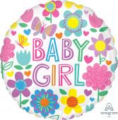 Balão Foil Baby Girl Floral 43cm