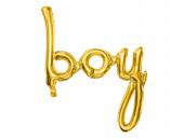 Balão Foil Baby Shower Boy Dourado