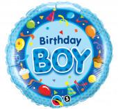 Balão Foil Birthday Boy 46cm