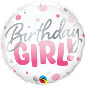Balão Foil Birthday Girl Rosa 46cm