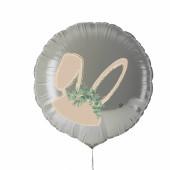 Balão Foil Branco Orelhas Coelho Páscoa 45cm