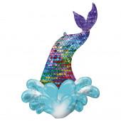Balão Foil Cauda de Sereia Lantejoulas 99cm