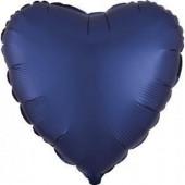 Balão Foil Coração Azul Navy Acetinado 43cm