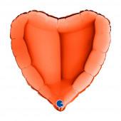 Balão Foil Coração Laranja 46cm
