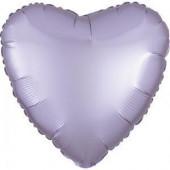 Balão Foil Coração Lilás Pastel Acetinado 43cm