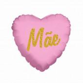 Balão Foil Coração Mãe Rosa 45cm