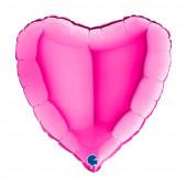 Balão Foil Coração Magenta 46cm