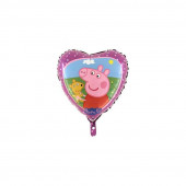 Balão Foil Coração Porquinha Peppa 45cm