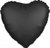 Balão Foil Coração Preto Onyx Acetinado 43cm