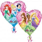 Balão Foil Coração Princesas Disney
