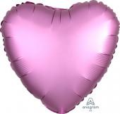 Balão Foil Coração Rosa Flamingo 18