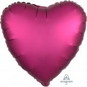 Balão Foil Coração Rosa Fúchsia Metalizado 19