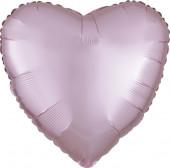 Balão Foil Coração Rosa Pastel Acetinado 43cm