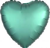 Balão Foil Coração Verde Jade Acetinado 43cm