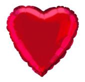 Balão Foil Coração Vermelho 46cm