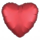 Balão Foil Coração Vermelho Sangria Acetinado 43cm