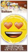Balão Foil Emoji Olhos Corações 18