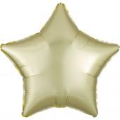 Balão Foil Estrela Amarelo Pastel Acetinado 48cm