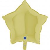 Balão Foil Estrela Amarelo Pastel