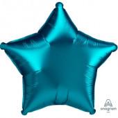 Balão Foil Estrela Aqua Turquesa Acetinado 48cm