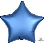 Balão Foil Estrela Azul Acetinado 48cm
