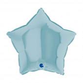 Balão Foil Estrela Azul Pastel 46cm