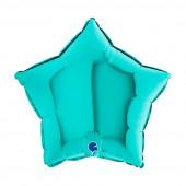Balão Foil Estrela Azul Tiffany 46cm
