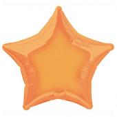 Balão Foil Estrela Laranja 51cm