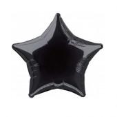 Balão Foil Estrela Preto 51cm