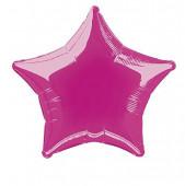 Balão Foil Estrela Rosa Fúchsia 51cm