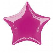 Balão Foil Estrela Rosa Fúscia 51cm