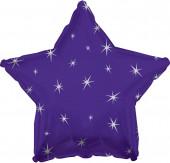 Balão Foil  Estrela Sparkle Roxo