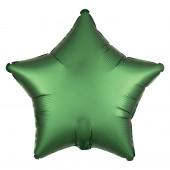 Balão Foil Estrela Verde Esmeralda Acetinado 48cm