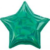 Balão Foil Estrela Verde Iridescente 48cm